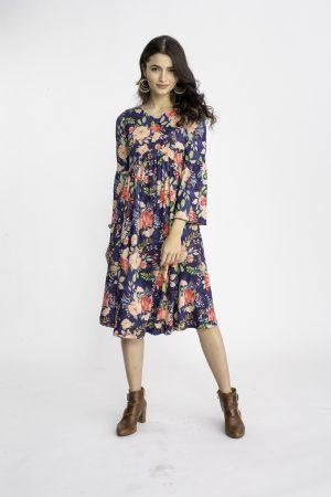 שמלת ציפורן הדפס 2