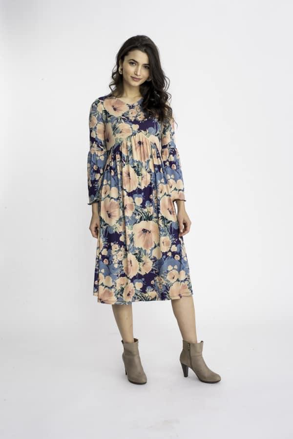 שמלת ציפורן הדפס 3
