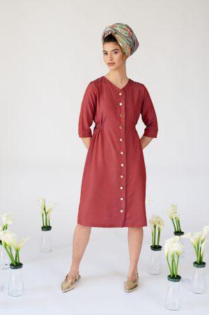 שמלת ברקת אדמדם