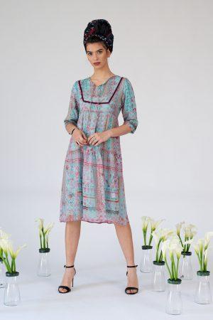 שמלת היידי תכלת