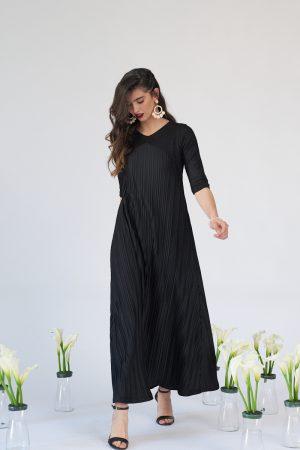 שמלת תורמוס מקסי שחורה