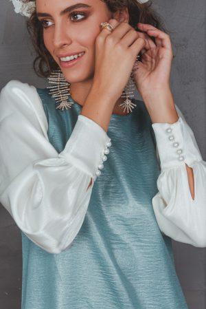 שמלת עלמה טורקיז