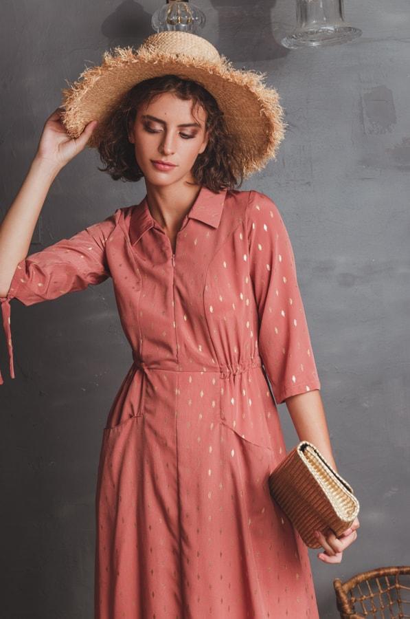 שמלת דרור אפרסק