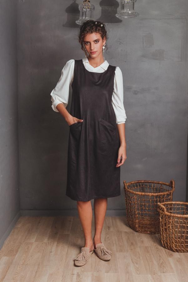 שמלות צנועות סרפן שחור
