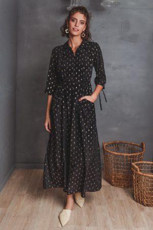 שמלת דרור שחורה