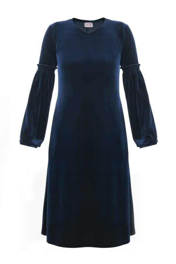 שמלות צנועות שמלות אירית כחולה
