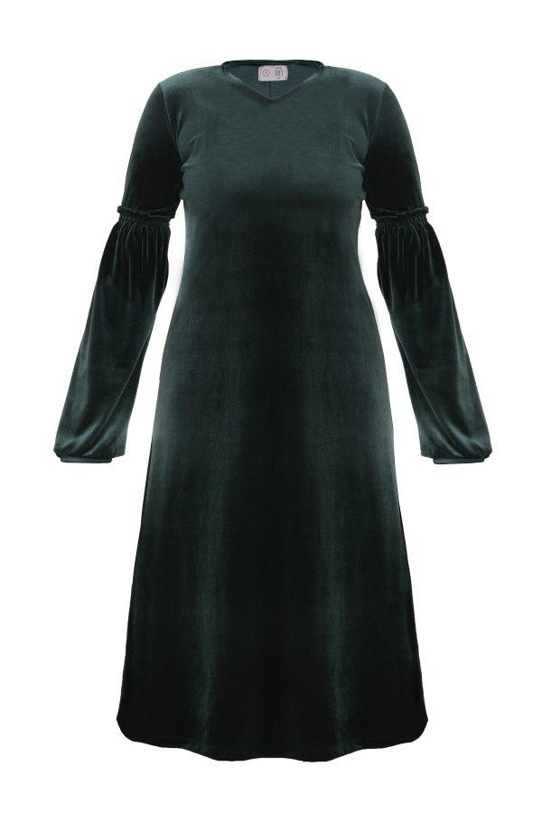 שמלות צנועות שמלת אירית ירוקה