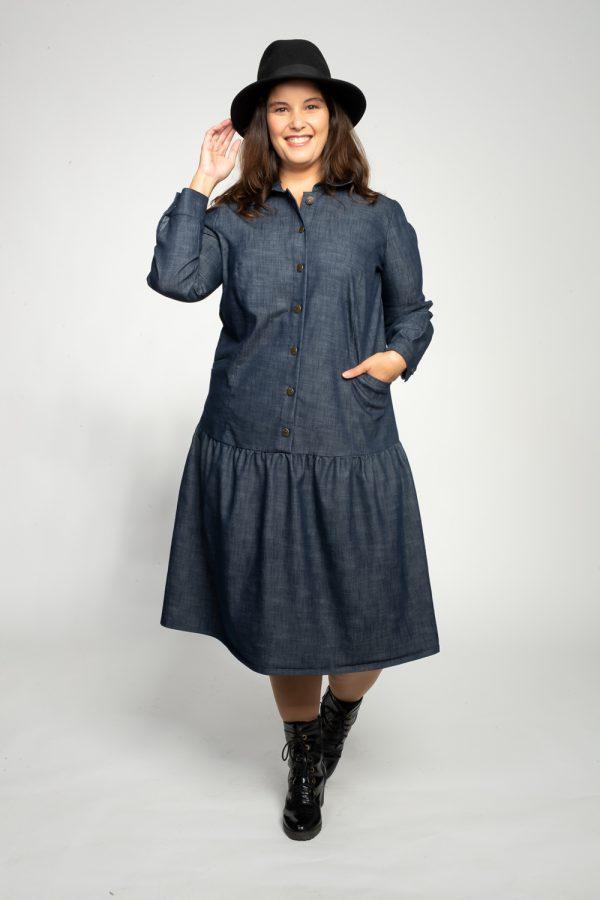 שמלות צנועות שמלת אליזבת ג'ינס
