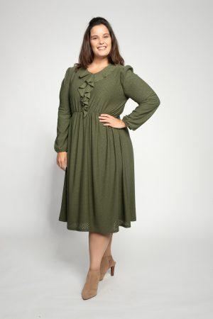 שמלות צנועות שמלת נילי זית 2