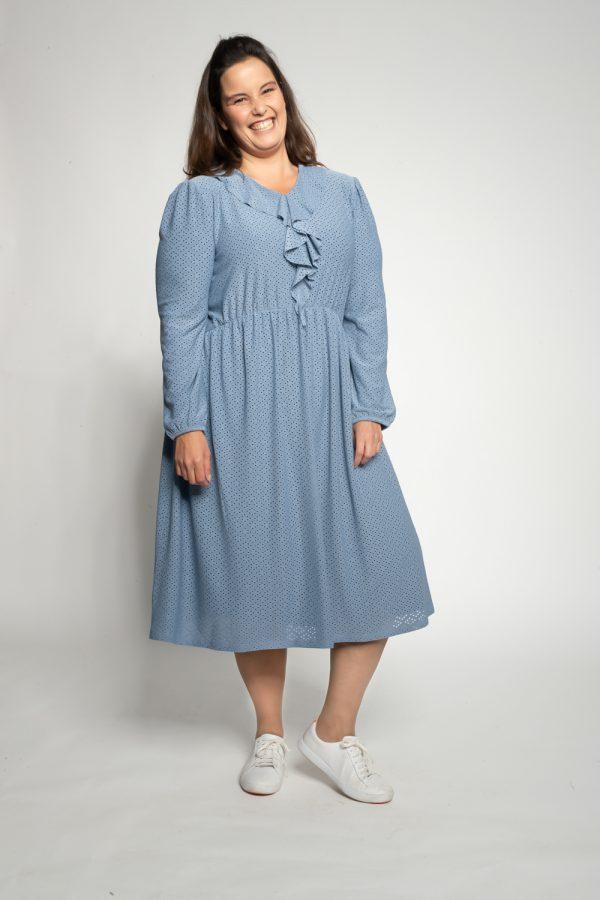 שמלות צנועות שמלת נילי תכלת 2
