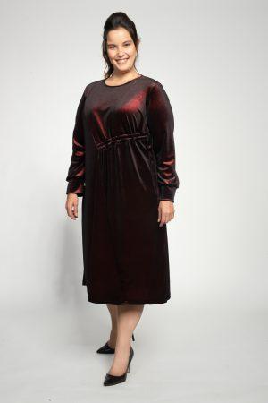 שמלות צנועות שמלת טופז בורדו
