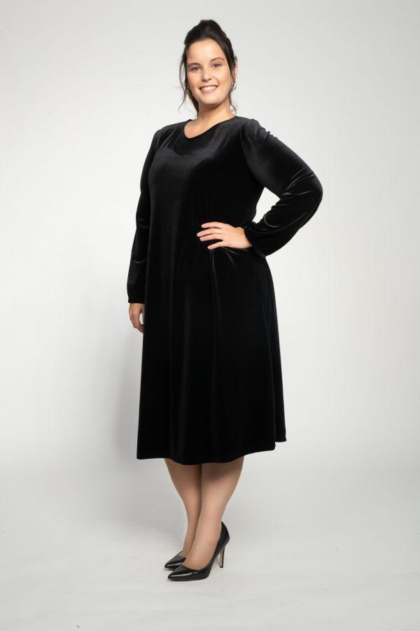 שמלות צנועות שמלת גליה שחורה