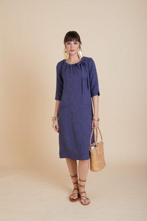 שמלת פשתן גינס